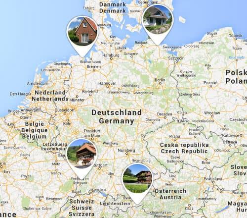 Visualisierung schönste Regionen